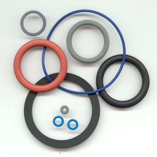 Coating for O-rings with PTFE as dry lubrication
