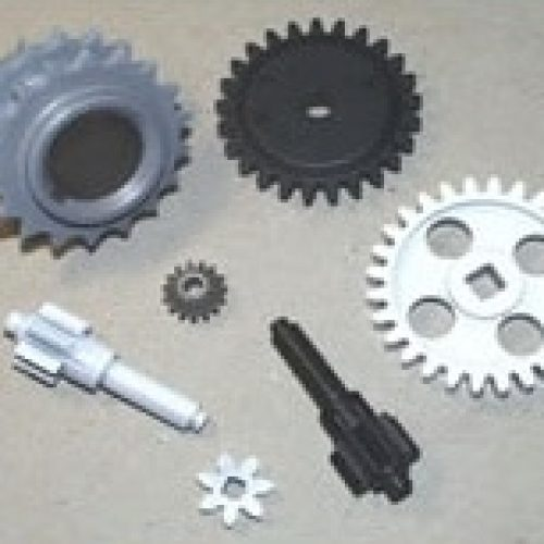 Dry lubrication (coating) of gears for noise minimization (for convertible tops)